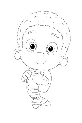 Goby Is Packed And Ready To Go Coloring page | Bubble ...