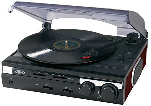 Jensen JTA230SE 3Speed Stereo Turntable With Builtin Speakers And Speed  Adjustment Mahagony U003eu003eu003e You
