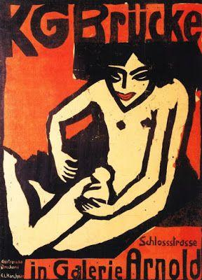 Ernst Ludwig Kirchner - Exhibition poster, Dresden, 1910