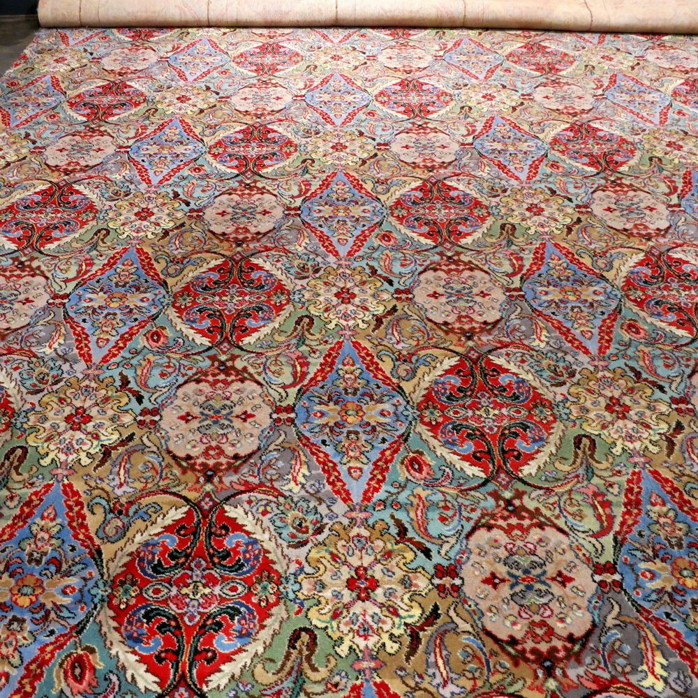 Splendid Vintage Pure Wool Axminster Carpet Rug 400cm X