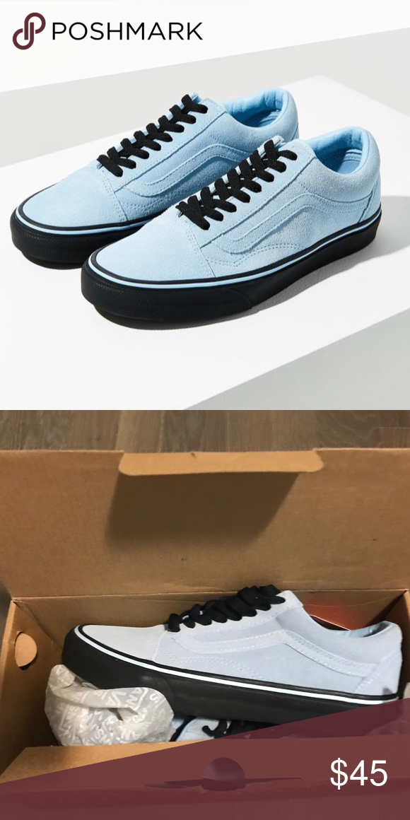 c85808a657e Old skool sneaker vans Blue and black old school vans BRAND NEW it is a size  8 in women s and 6.5 in men s. Feel free to make an offer.