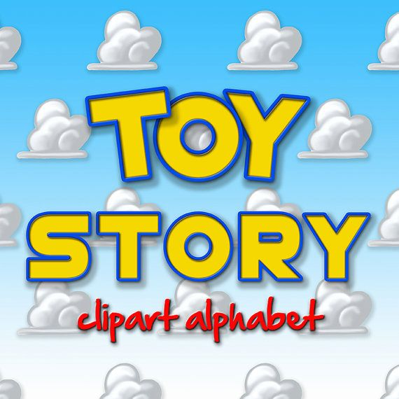 Toy Story Alphabet Clipart Printable Toy Story by TheArtBoxDesigns ...