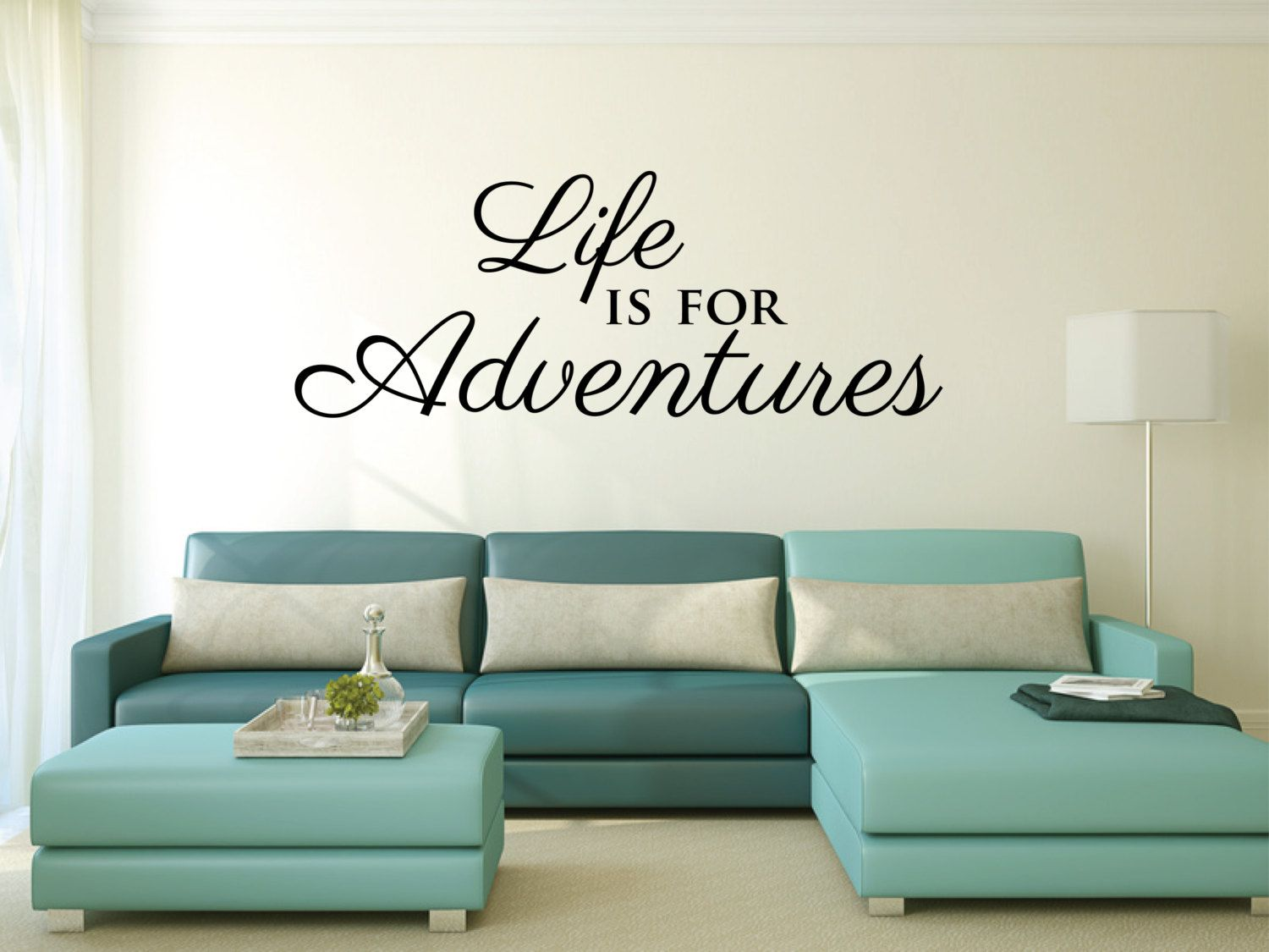 Wall Sticker Life Is For Adventures Motivational Inspirational