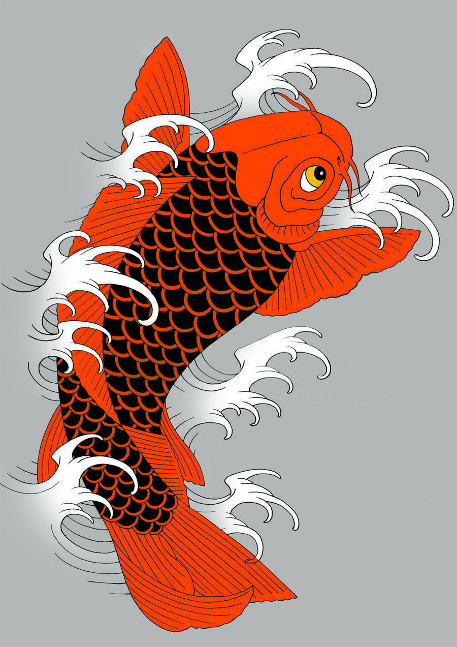 tattoo flash of The Japanese Koi a timeless iconic design | pisces ...