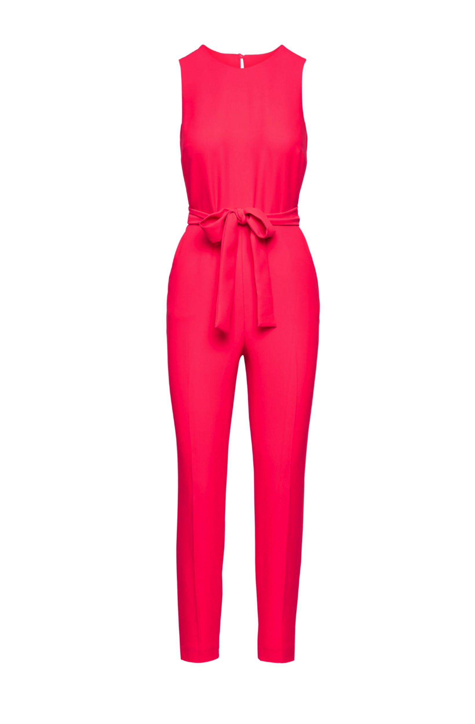 5b297dcc2103 Banana Republic Womens Belted Jumpsuit Hot Pink