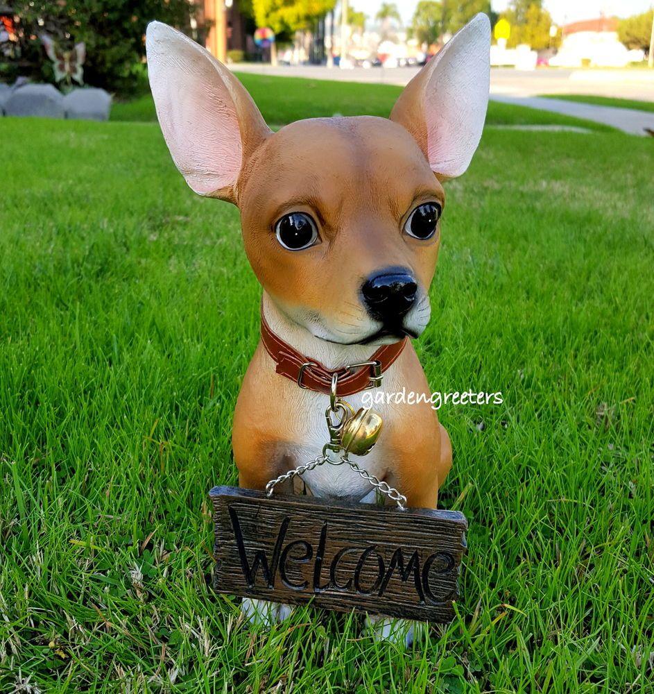 Details about CHIHUAHUA STATUE CHIHUAHUA FIGURINE Chihuahuas