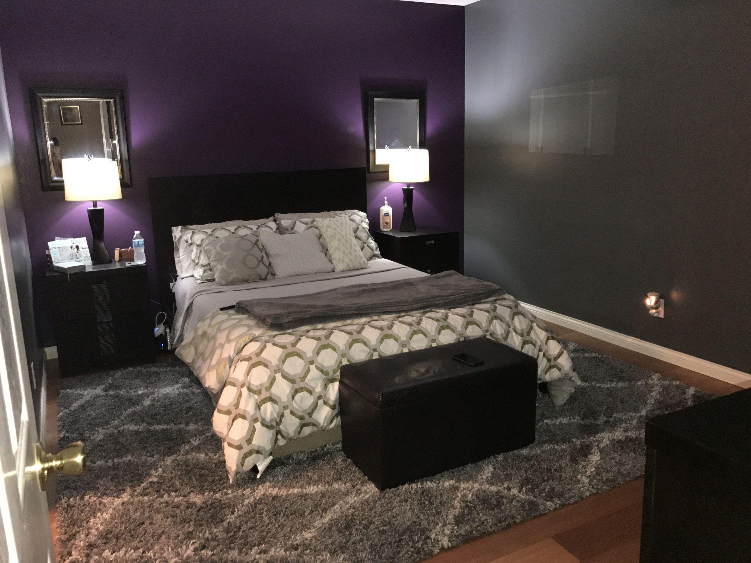 Purple And Gray Master Bedroom Ideas In 2020 Purple Master Bedroom Purple Bedroom Design Master Bedrooms Decor