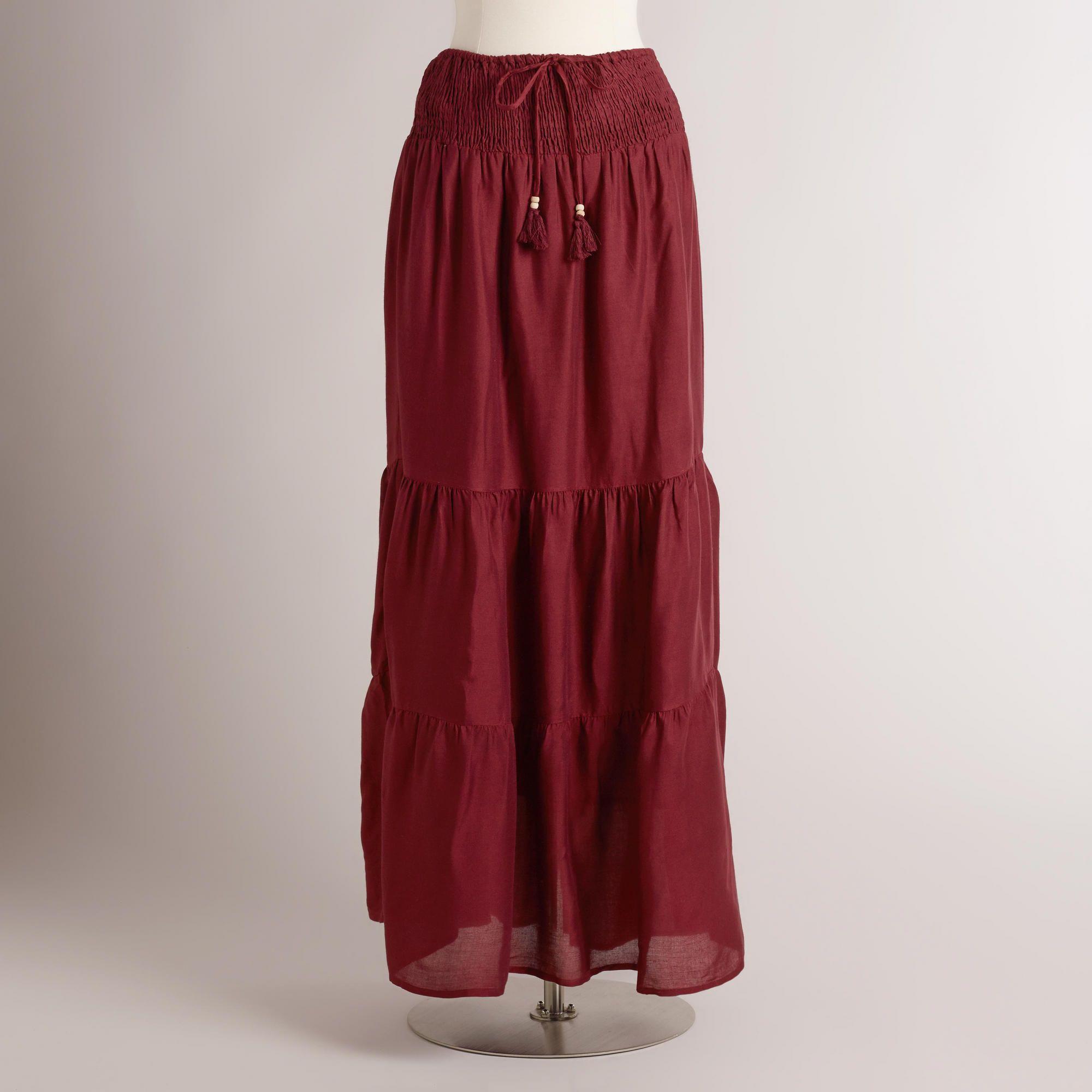 Maroon Lalana Skirt   World Market