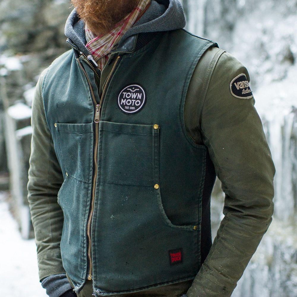 63256f2c9 Vanson Stormer Waxed Canvas Jacket - Olive in 2019 | Bikes | Waxed ...