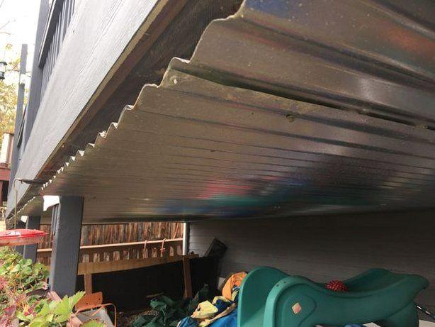 Simple Under Deck Rain Catch Drainage Patio Under Decks Under Decks Under Deck Roofing