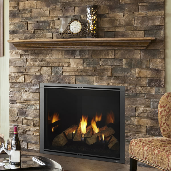 Majestic Marquis Ii See Through 42 Direct Vent Gas Fireplace