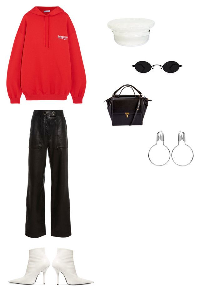 """""""172"""" by maddieobrown ❤ liked on Polyvore featuring Manokhi, Yves Salomon and Balenciaga"""