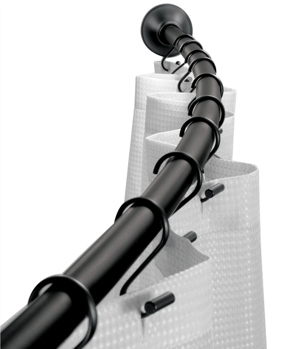 Photo of Interdesign Curved Matte Black Shower Curtain Rod 41