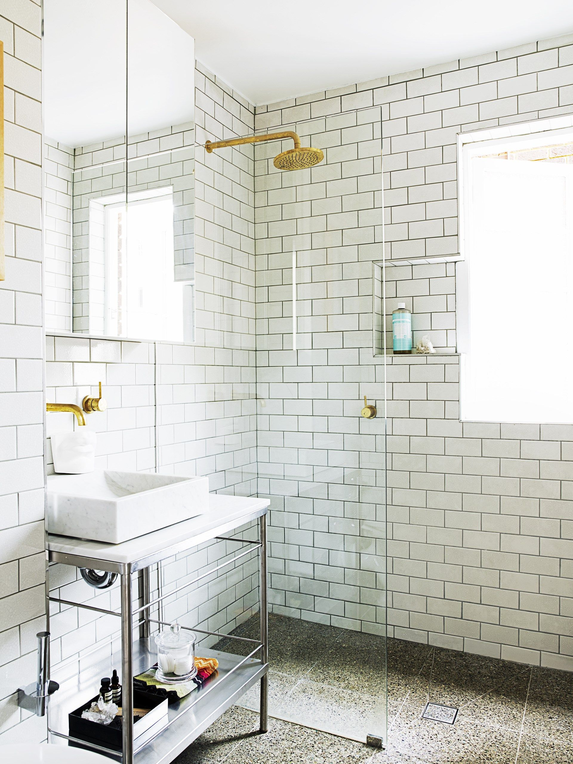 bathroom inspiration traditional subway tiles