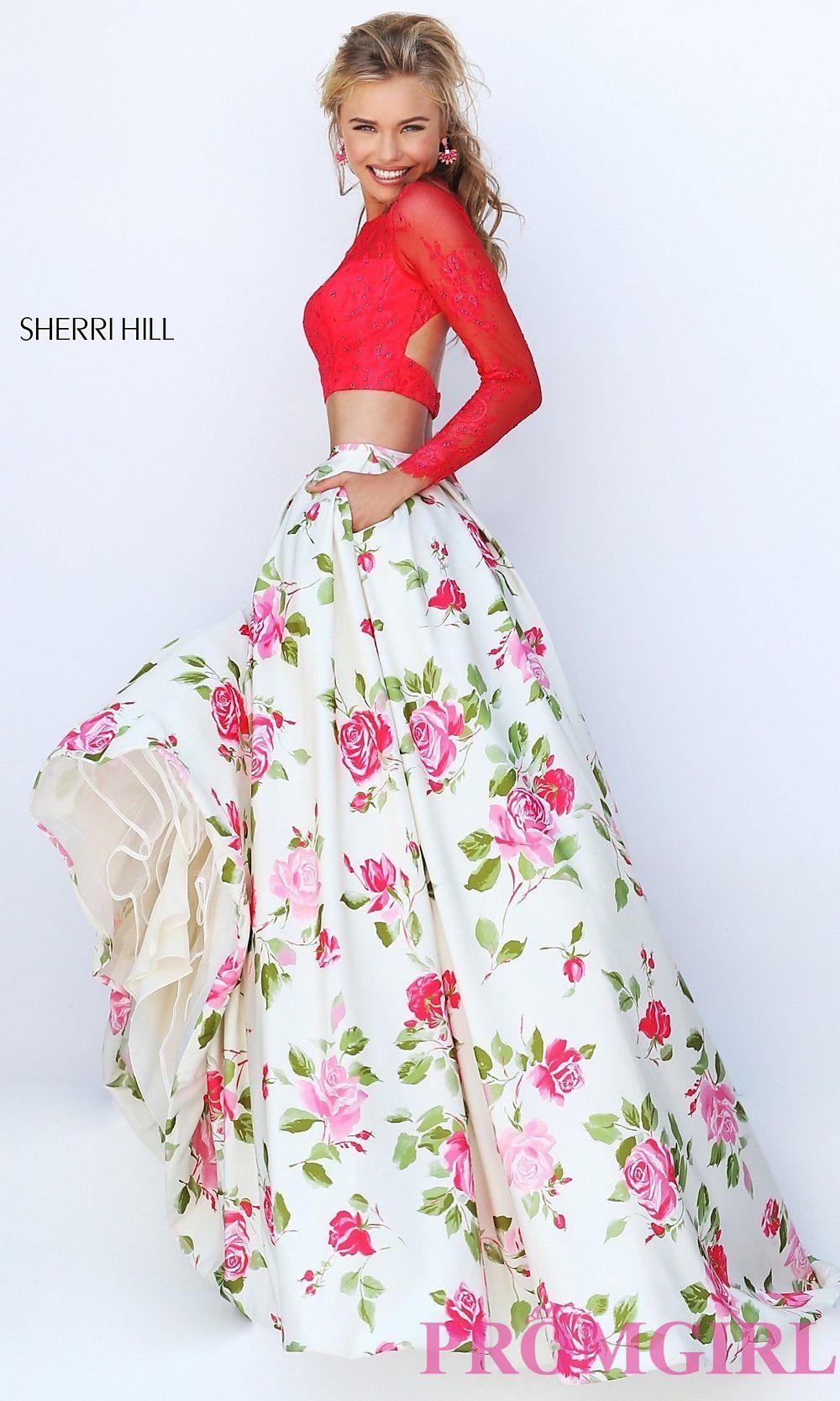 Floor Length Floral Print Dresses