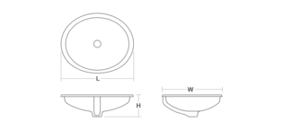 Kohler Canvas Undermount Bathroom Sink Dimensions Diagram