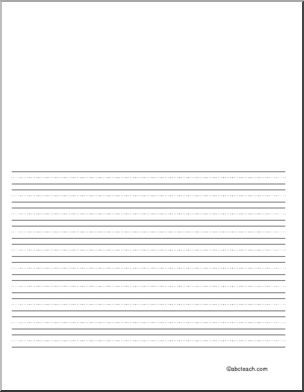 Primary writing paper you can type on