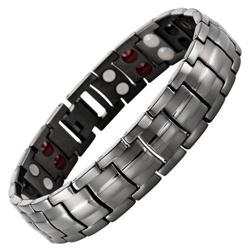 Willis Judd New Four Element Gunmetal Titanium Magnetic Bracelet In Black Velvet Gift Box & Free Link Removal Tool Willis Judd,http://www.amazon.com/dp/B00AE79KXW/ref=cm_sw_r_pi_dp_2Wzqsb00T2W1H38F