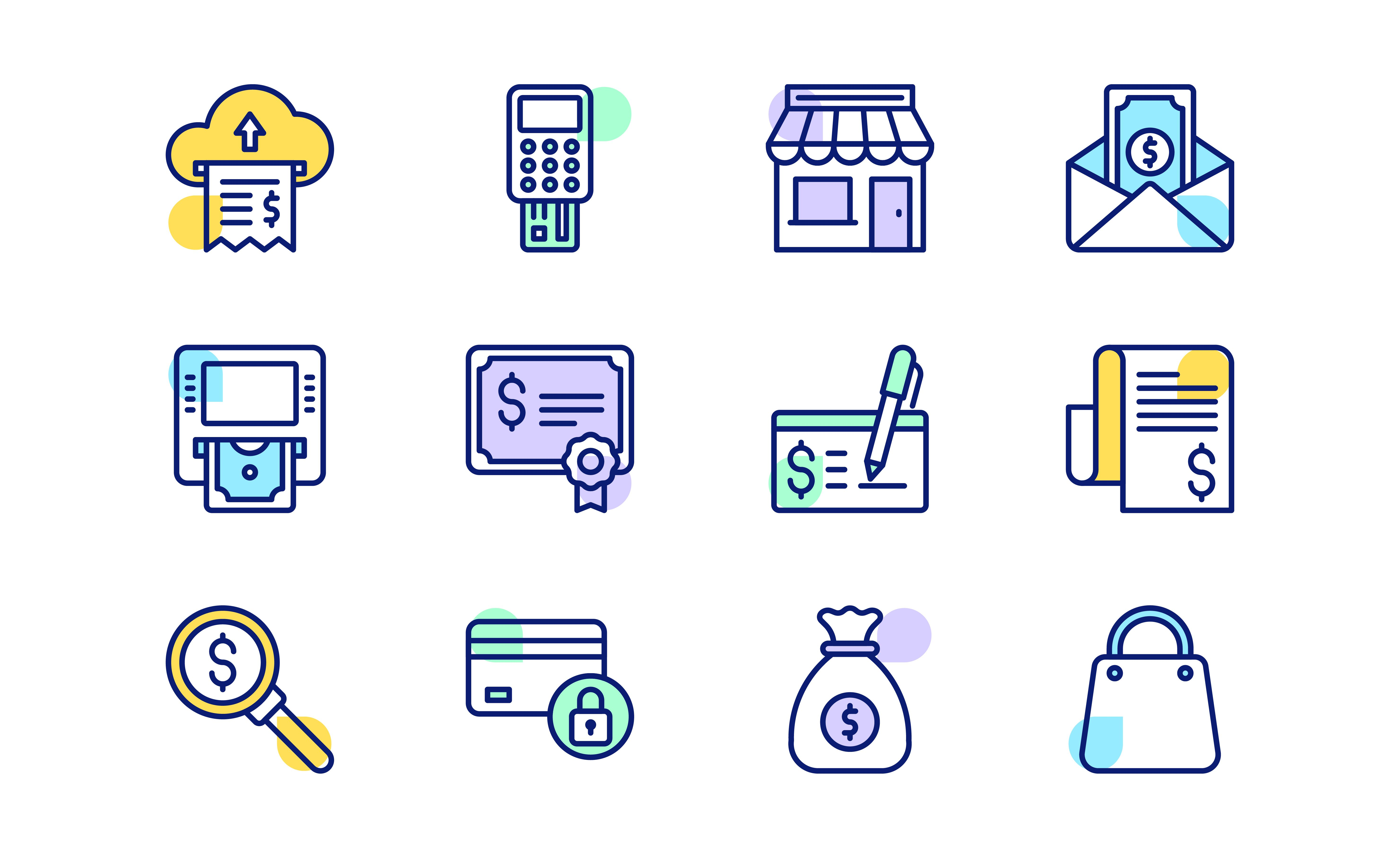 Kurniawan17 I Will Design Amazing Icon Set With Flat Line Style For You For 5 On Fiverr Com In 2020 Business Icon Custom Icons Icon Set