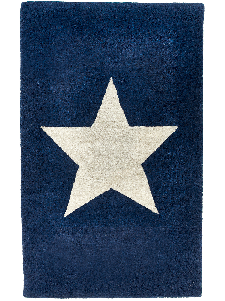 Perfect Star Rug   Navy   Rugs