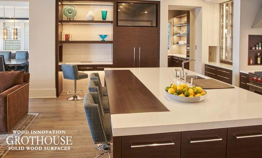 Wenge Wood Kitchen Countertops In Minneapolis, Minnesota