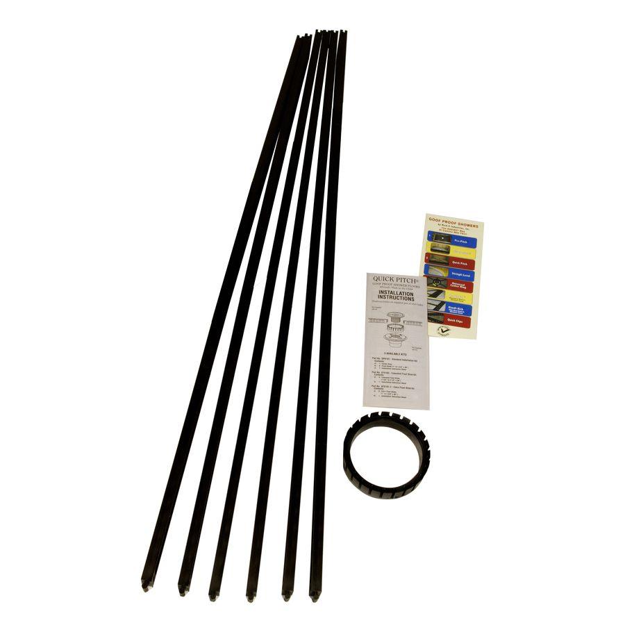 Goof Proof Quick Pitch Black Polystyrene Shower Kit Qpk-101 ...