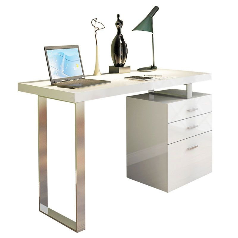Addison Desk W File Modern Deskers Eurway Furniture