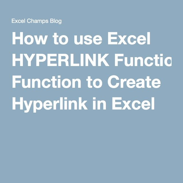 How to use Excel HYPERLINK Function to Create Hyperlink in