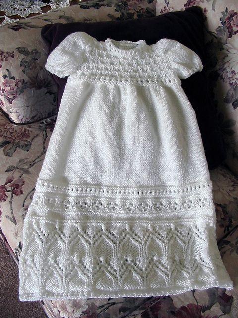 Dresses and Skirts for Children Knitting Patterns   Christening ...