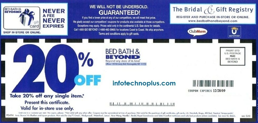Bed Bath And Beyond Coupon Print Bath And Beyond Coupon Free