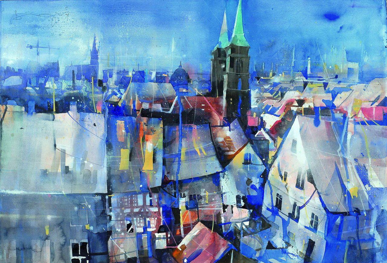Home Bernhard Vogel Bernhard Vogel Aquarell Stadt Stadt