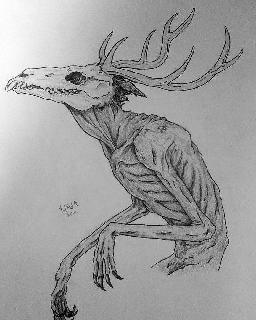 Pin By Elissa Schlimgen On Magical Creatures Dark Art Drawings