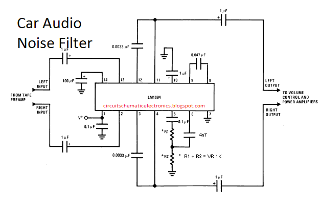 Car audio noise filter circuit car audio circuits and filter the circuit filters noise in car audio is useful to filter out noise hum car cheapraybanclubmaster Images
