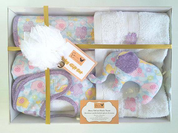 Baby shower gift set new baby gift baby girl gift elephant pastel baby shower gift set new baby gift baby girl gift elephant pastel nursery gift negle Choice Image