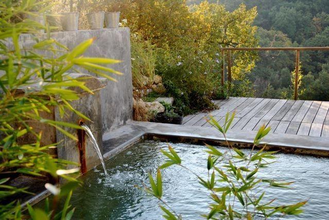 Location vacances mas St Jeannet piscine au sel Piscine - location vacances provence avec piscine