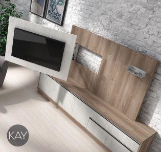 Colecci n de muebles para tv giratorios y fijos para el - Soportes de estanterias ...