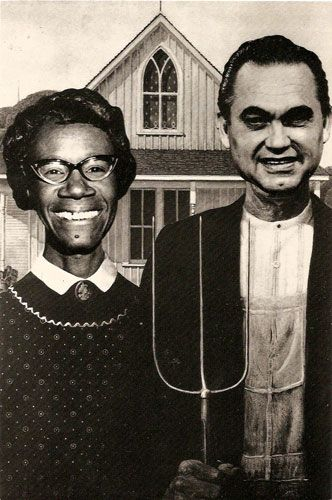 Shirley Chrisholm and George Wallace parody
