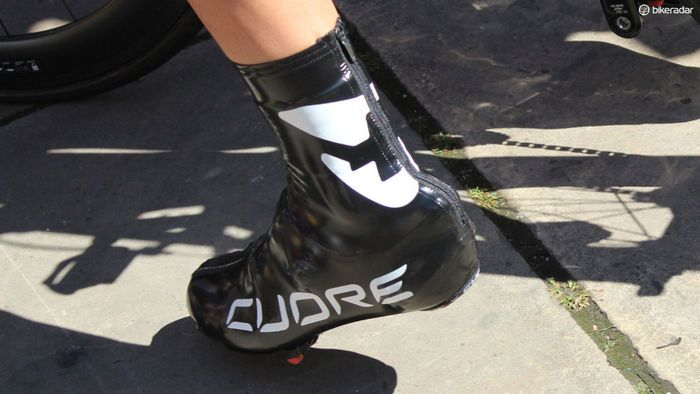15139189eab Cycling shoes of the pros - Sometimes shoe covers are worn for aero  benefits
