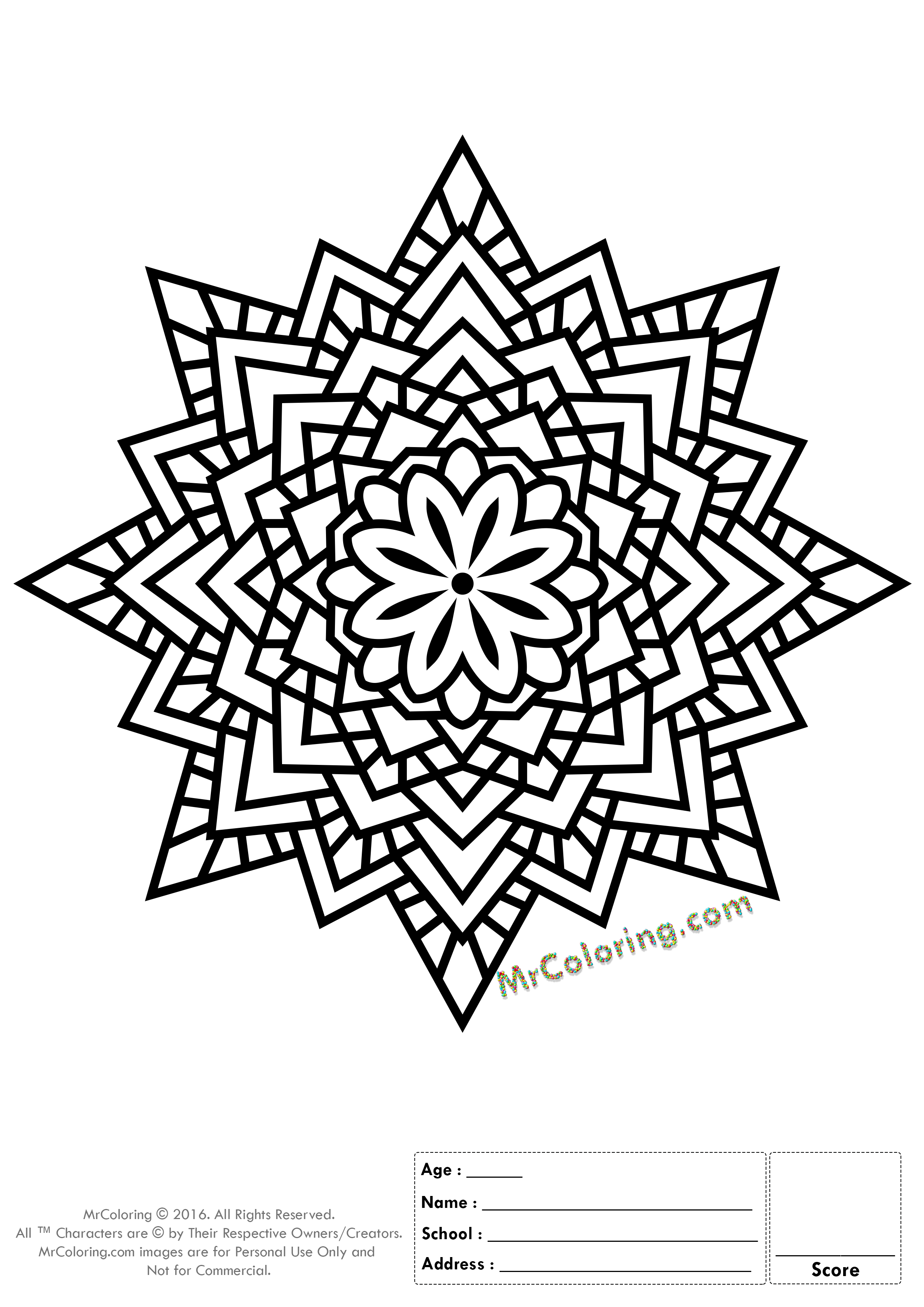 Printable Mandala Online Coloring Pages And Coloring