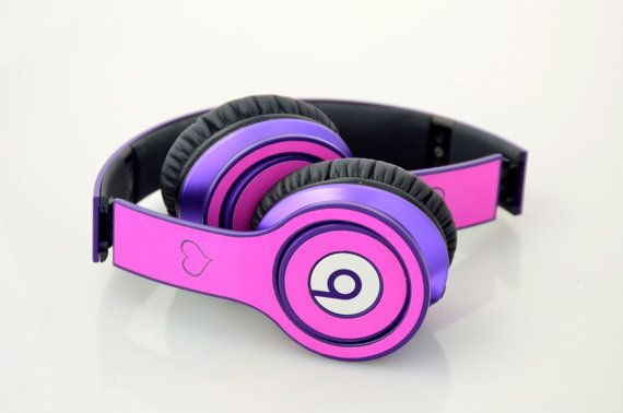 Personalized Beats Solo Headphones by Dr Dre Skin by SewFunGifts, $19.99