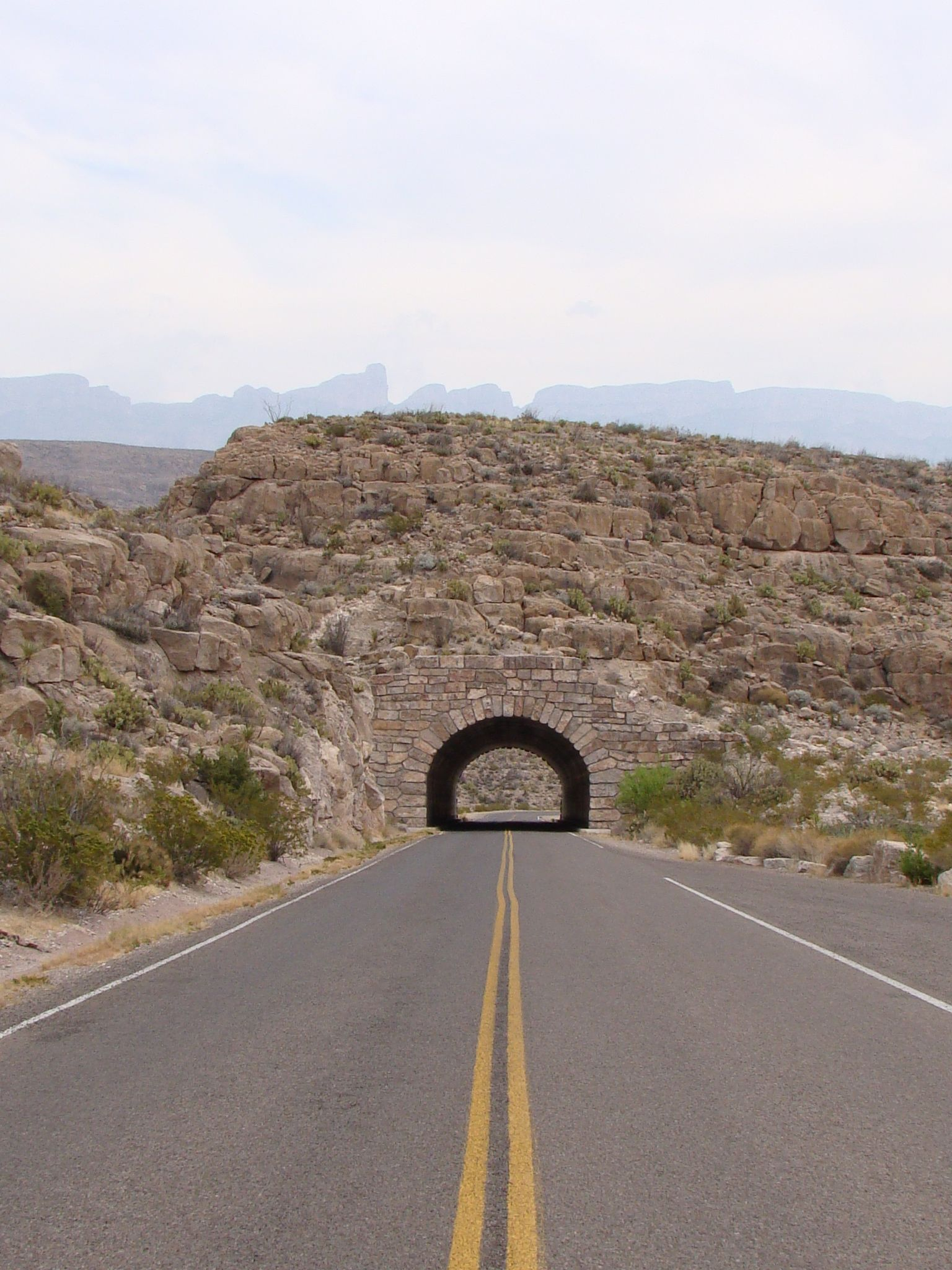 Camino Del Oro Parking The Rio Grande Tunnel In Big Bend National Park Was Built In 1959
