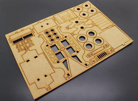 Military Truck Laser Cut Wood Model Kit Laser