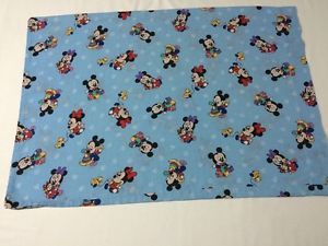 Baby Mickey Mouse Minnie Pillowcase Disney Cutter Fabric Blue Toys | eBay