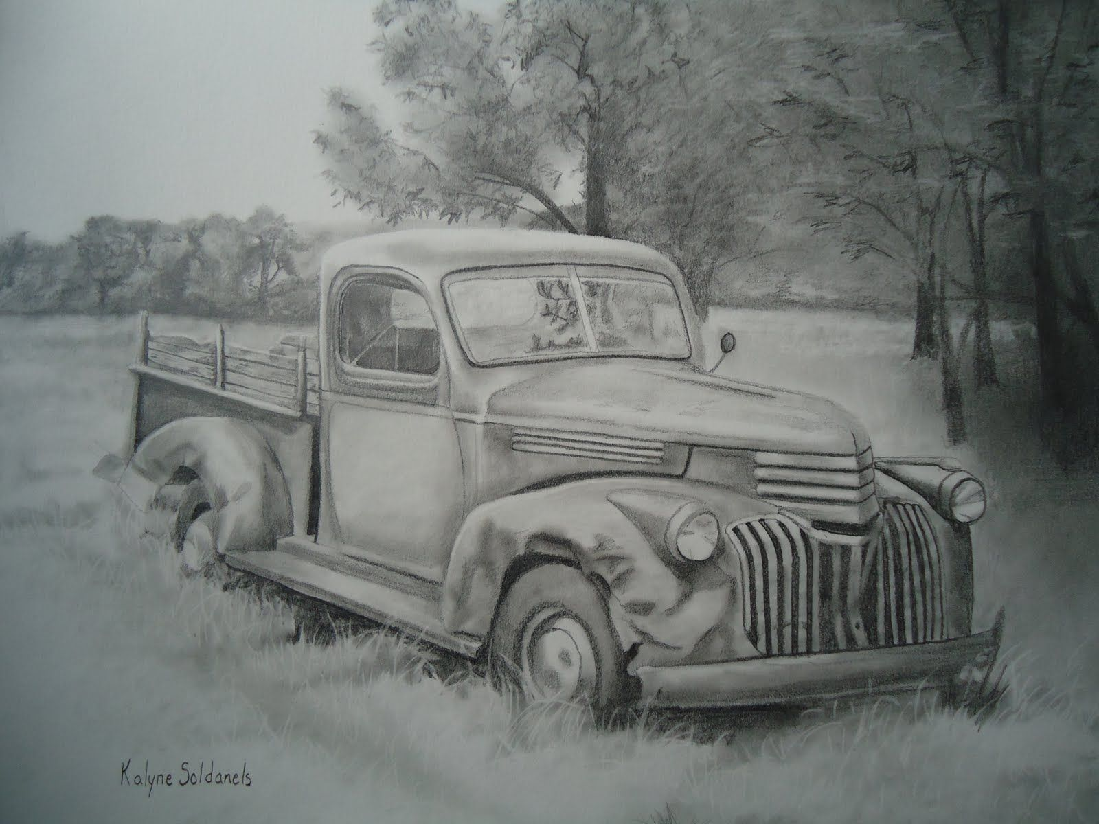 Pencil drawings of old trucks yahoo search results
