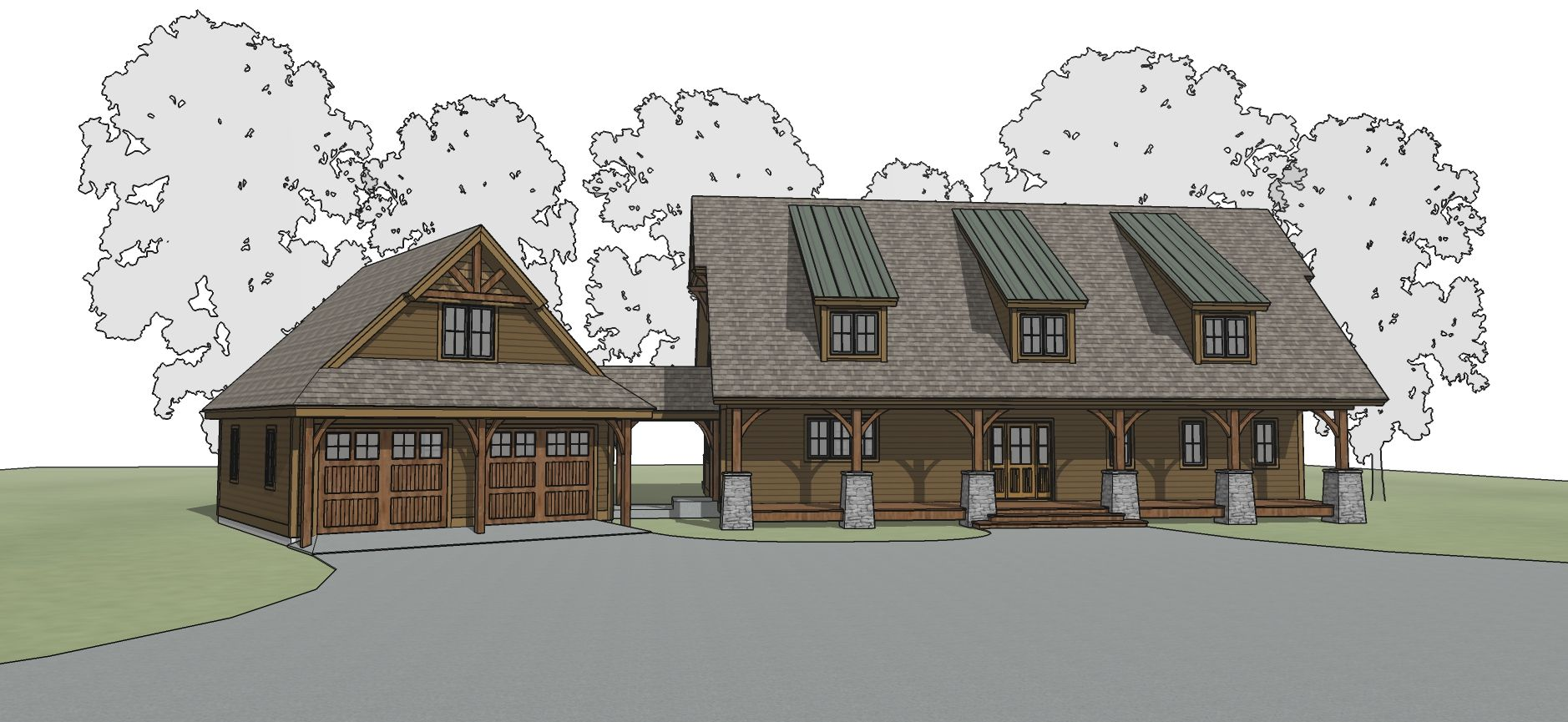 Bluffton Timber Frame Floor Plan By Mill Creek