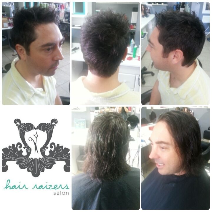 Mens Haircut From Long To Short Transformation Http
