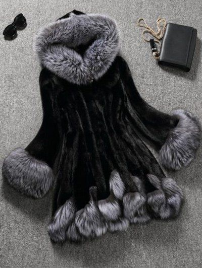 Hooded Faux Fur Coat  7a4341ddab076