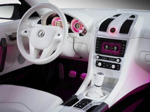 Exceptional Girly Interior Car Accessories #10 Pink Car Interior ...