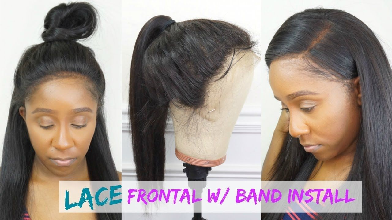 How To Make A Lace Frontal W Band Wig Free Hair Wig Giveaway Diy Wigs Diy Wig U Part Wigs
