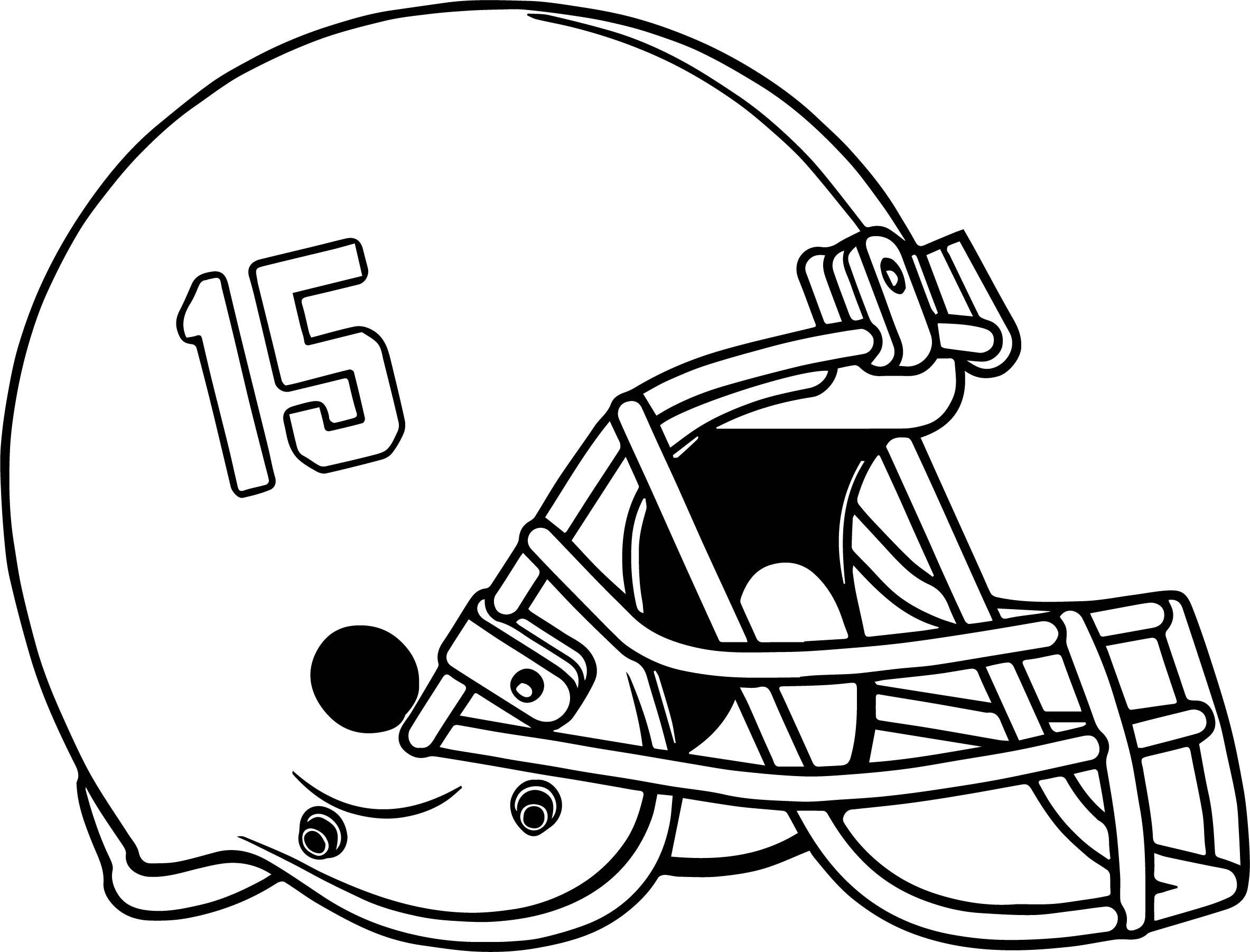 Bama Alabama Helmet Fifteen Number Coloring Page Football